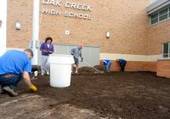high school expands prairie garden, honors murphy